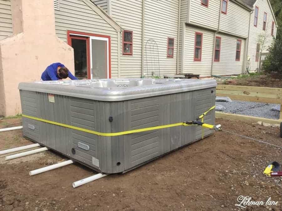 Hot Tub Being Moved
